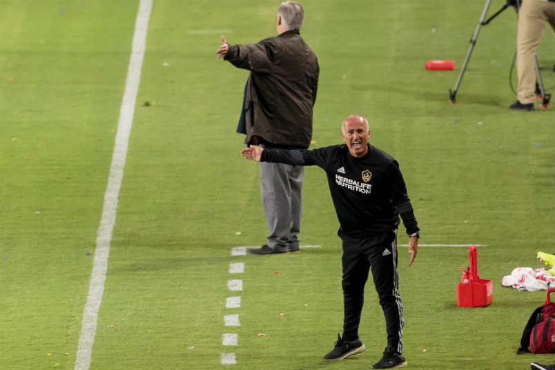 LA Galaxy coaches Sigi Schmid and Dominic Kinnear