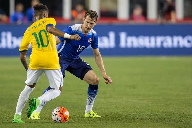 Neymar and Jonathan Spector