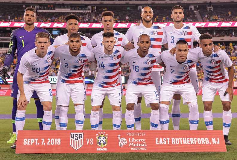 US National Team lineup for Brazil friendly