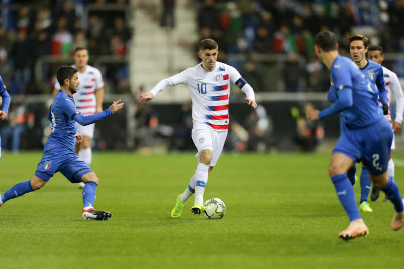 Christian Pulisic USMNT vs Italy