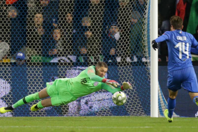 USMNT goalkeeper Ethan Horvath