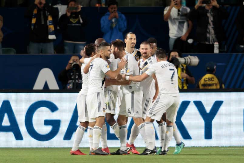 LA Galaxy goal celebration