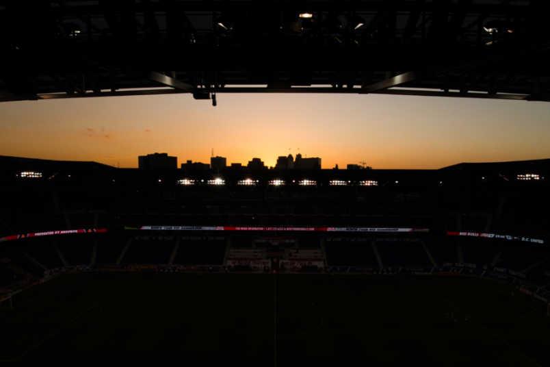 Red Bull Arena dusk