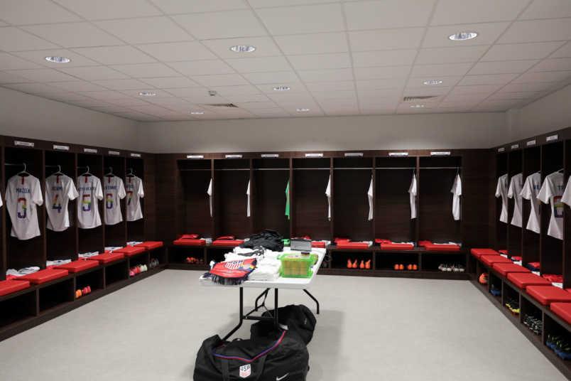 USMNT locker room France friendly