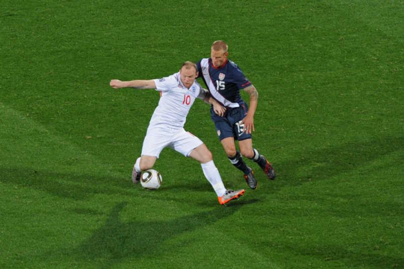 Wayne Rooney Jay DeMerit World Cup