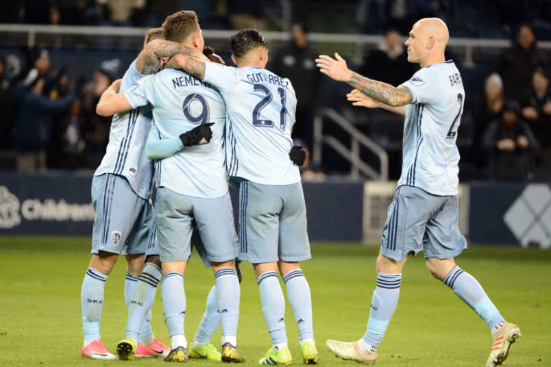 Sporting Kansas City 2019 concacaf champions league goal celebration