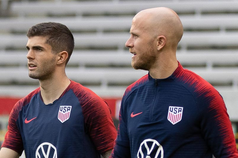 christian pulisic and michael bradley usmnt training