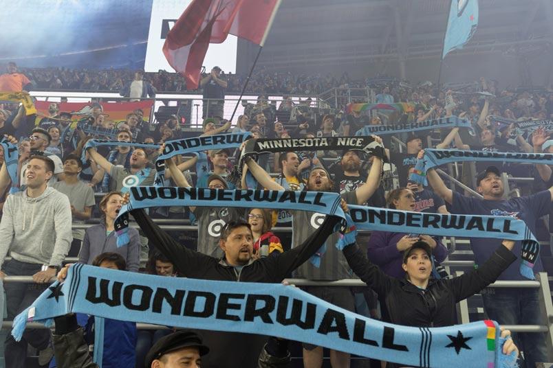 minnesota united fans wodnerwall