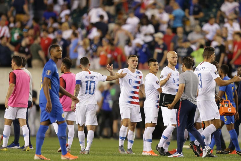 usmnt advances over curacao at the 2019 gold cup
