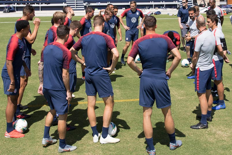 usmnt training session