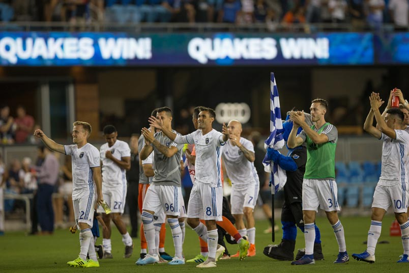 earthquakes win celebration