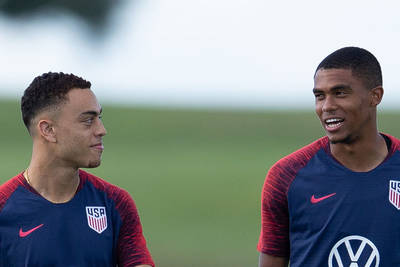 Cannon and Dest in the USMNT defense