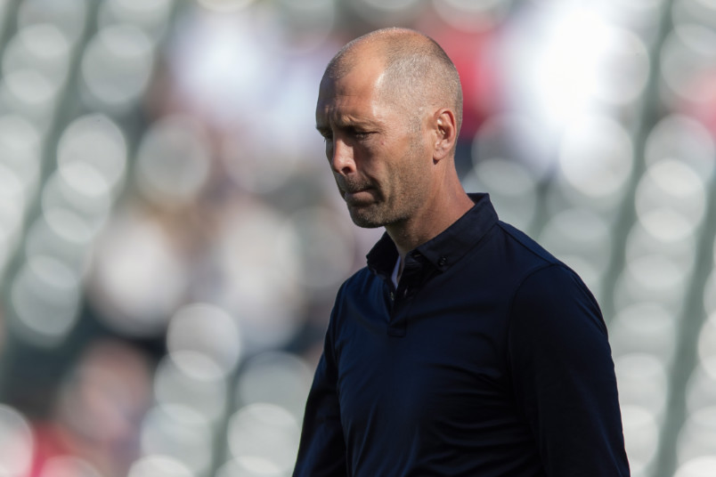gregg berhalter in profiel during the february 2020 friendly against costa rica