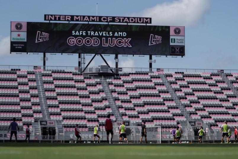 inter miami stands at stadium in fort lauderdale