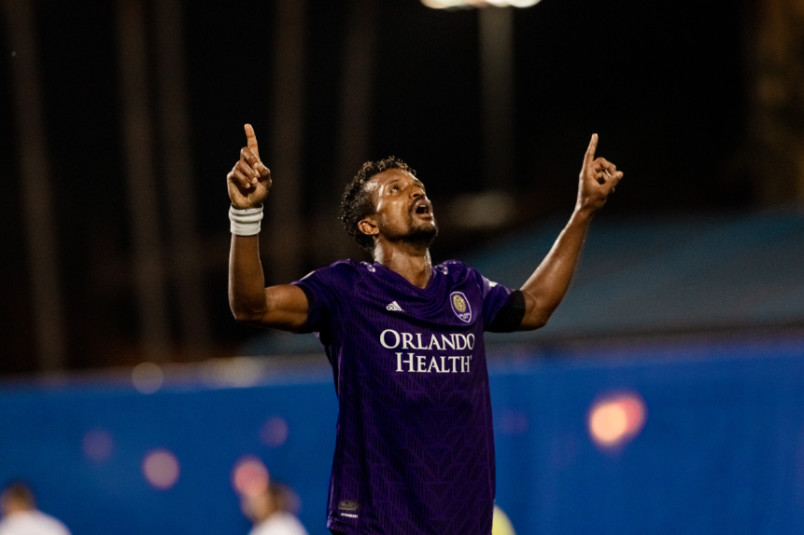 nani orlando city player during the mls is back tournament