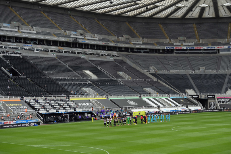 newcastle united st james park empty stadium