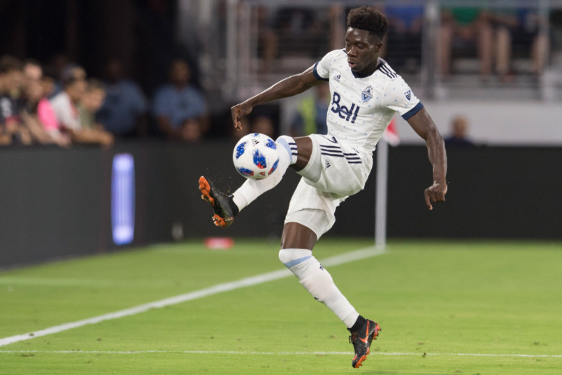 alphonso davies when he played for vancouver