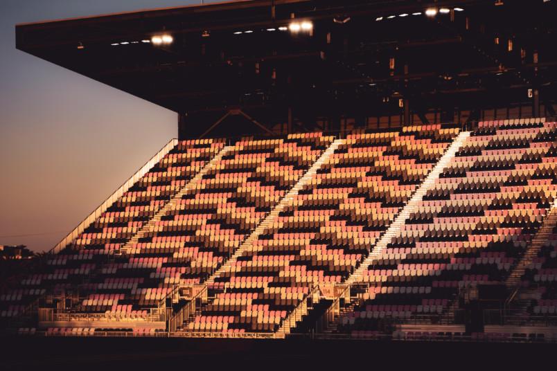 the main stand at inter miami stadium