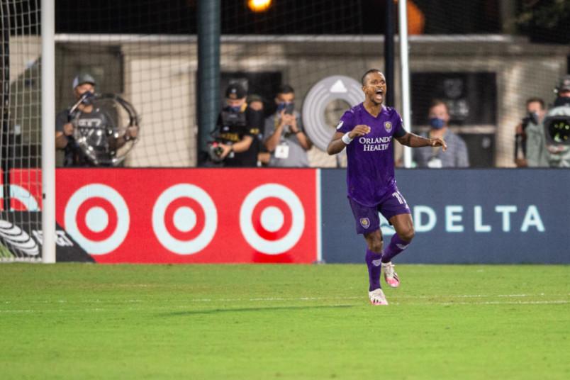 nani celebrates for orlando city against LAFC