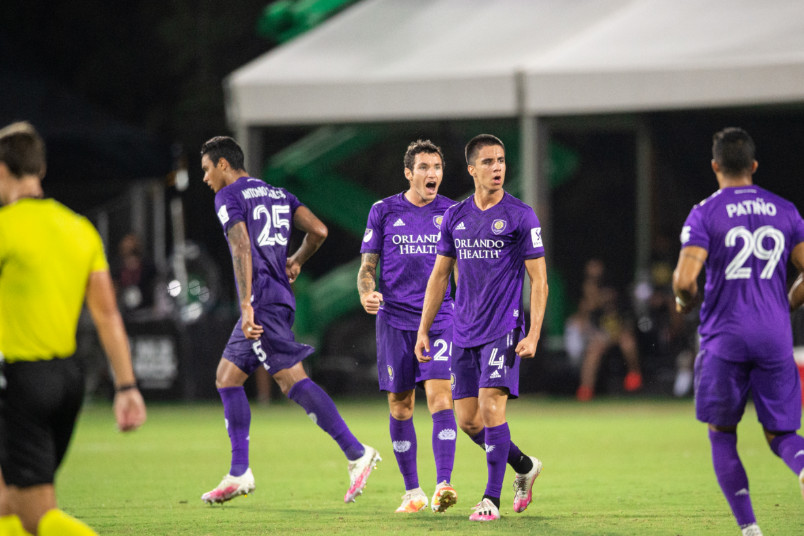 orlando city players during mls is back