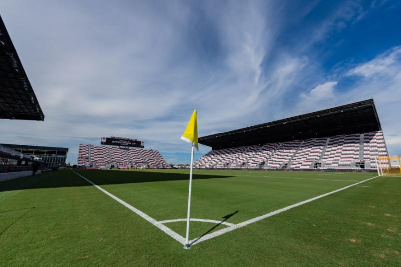 inter miami stadium from the corner flag