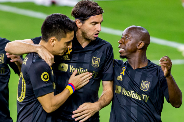 lafc goal celebration against vancouver on september 23 2020