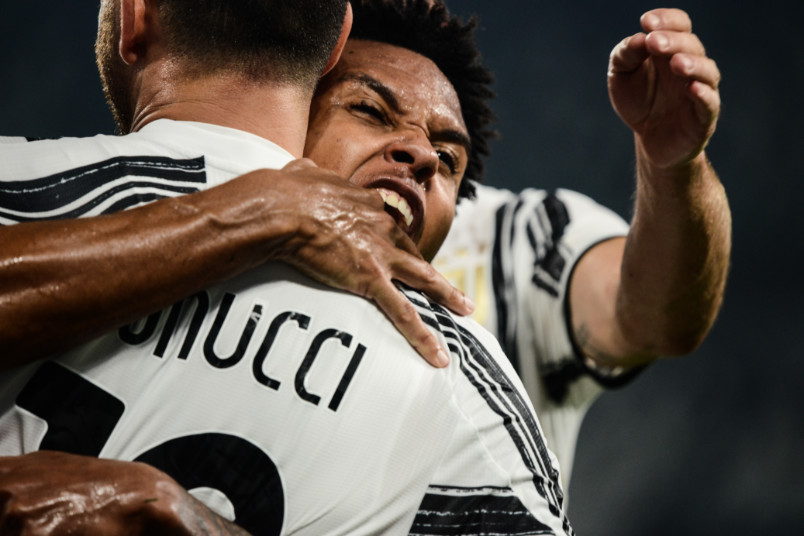 weston mckennie juventus debut celebration