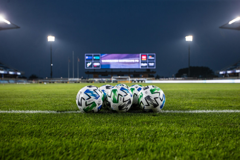 soccer balls at Earthquakes stadium