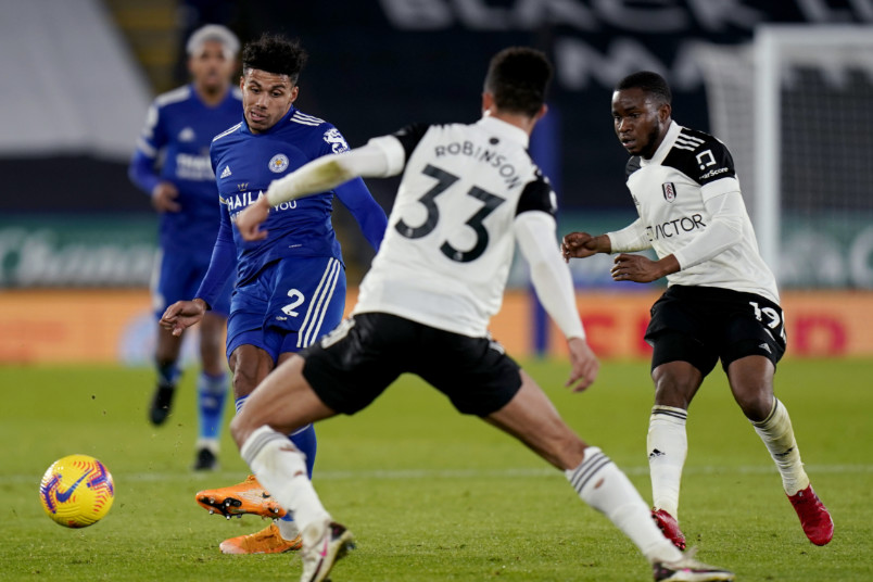 antonee robinson during fulham win over leicester city