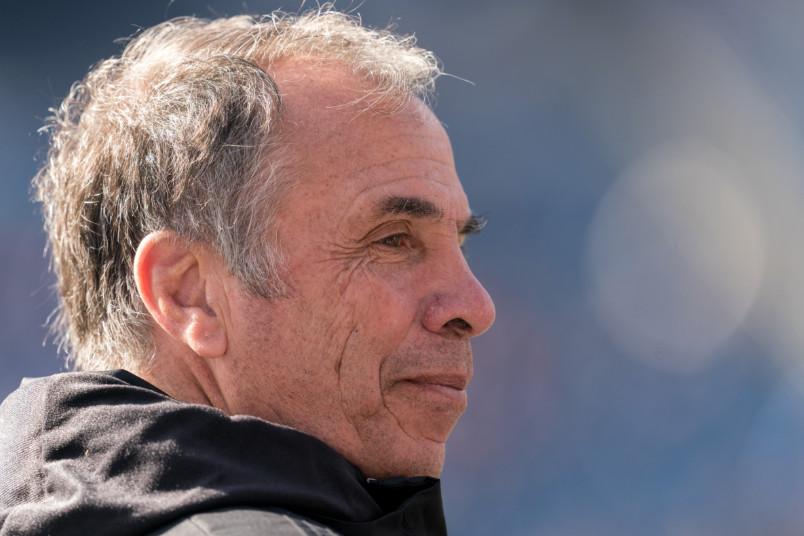 new england revolution coach bruce arena in profile