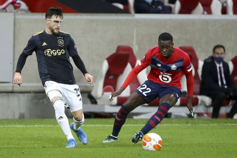 timothy weah against ajax in the europa league