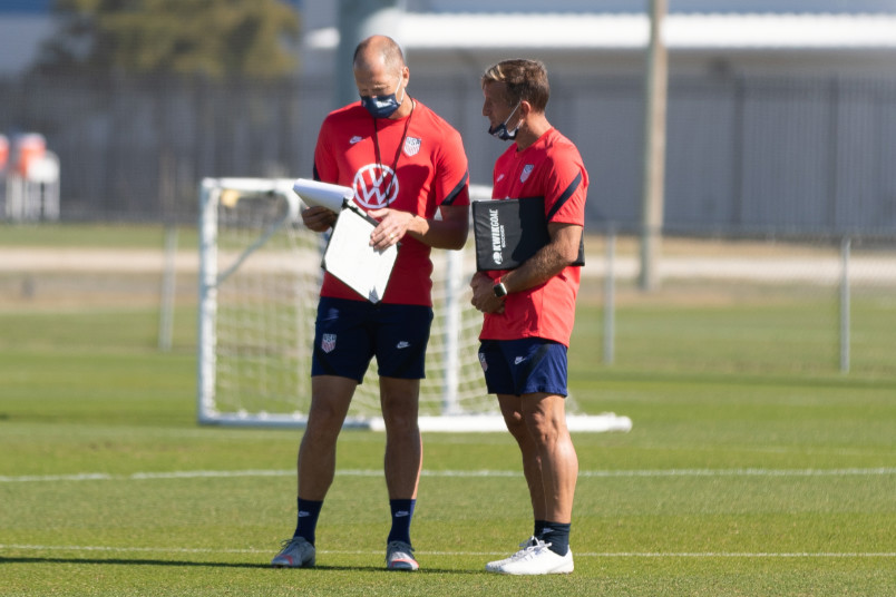 usmnt coach gregg berhalter and u-23 coach jason kreis