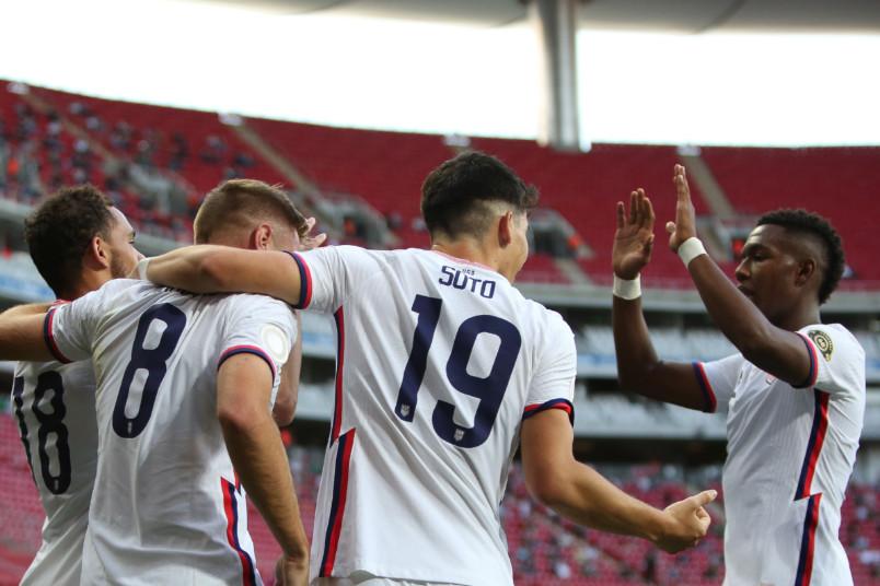 usmnt u-23s goal celebration against dominican republic