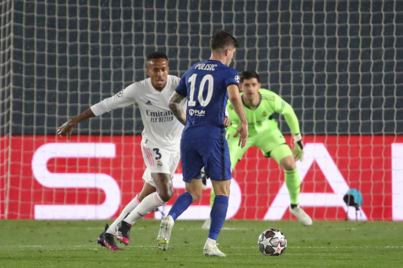 christian pulisic chelsea at real madrid champions league