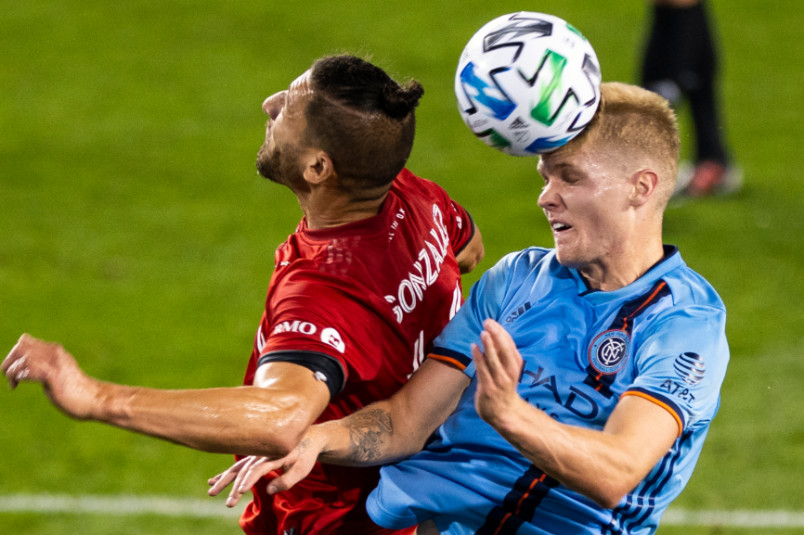 nycfc keaton parks in action during 2020 mls season