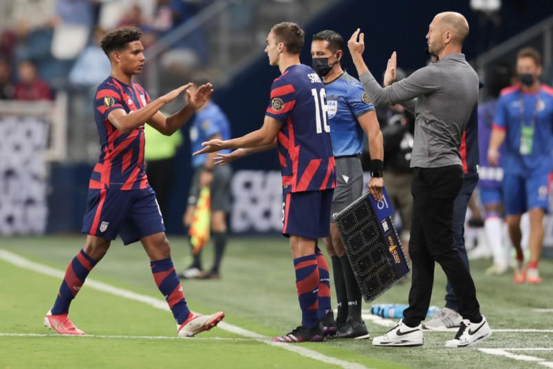 usmnt coach gregg berhalter substitution against haiti