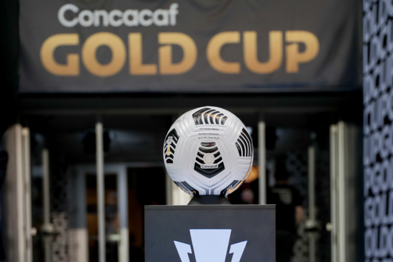 2021 concacaf gold cup ball on stand