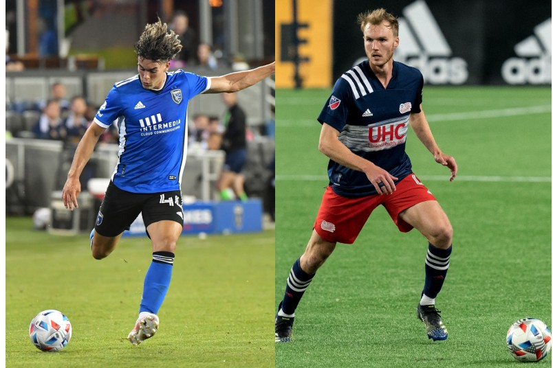 cade cowell and henry kessler with their mls teams