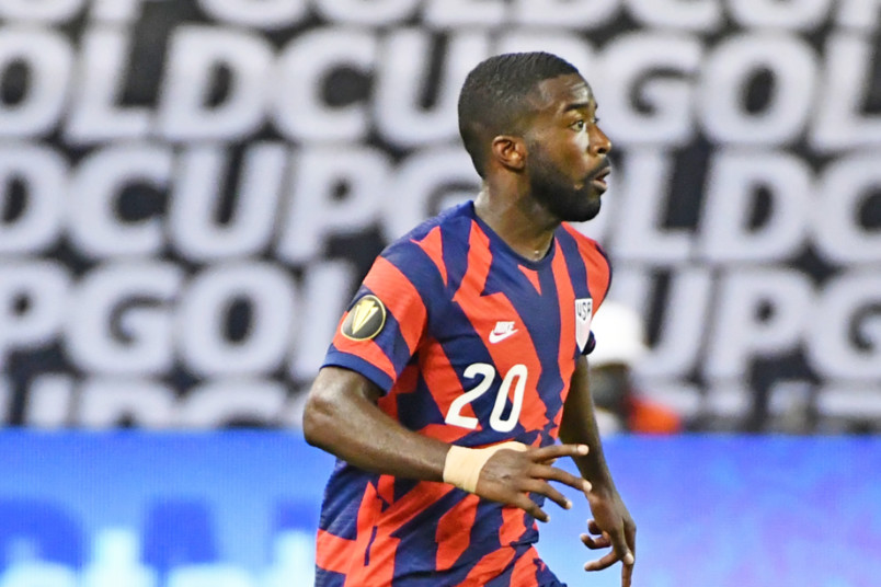 shaq moore against haiti in the gold cup