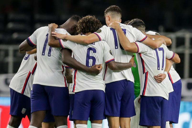 usmnt huddle gold cup quarterfinal