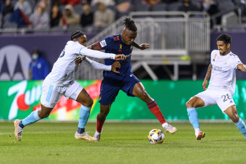 action from chicago vs new england on september 22 2021