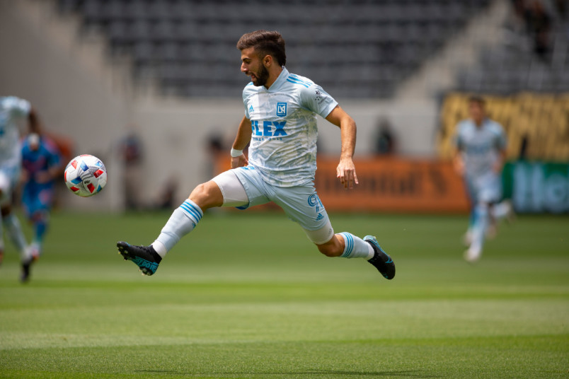 lafc diego rossi in action 2021 mls season