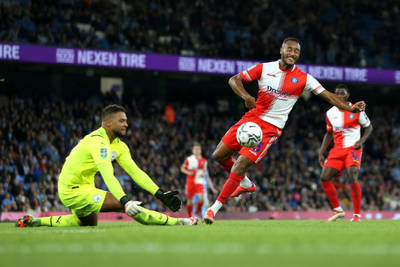 Zack Steffen sees action for Manchester City in the League Cup