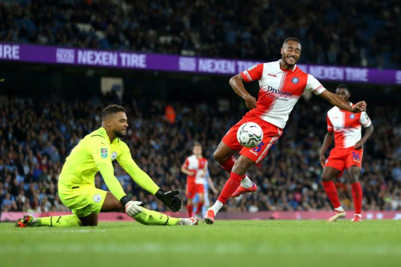 manchester city goalkeeper zack steffen in action
