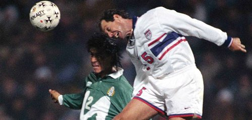 Thomas Dooley in action against Mexico during the 1995 Copa America. David Leah - ISIPhotos.com