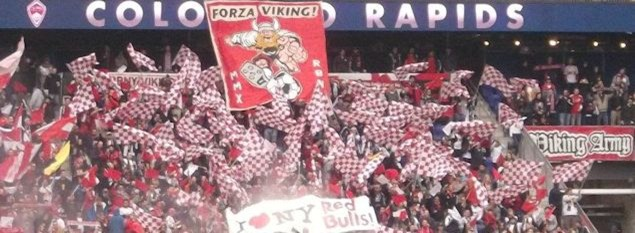 viking army, red bull arena, tifo