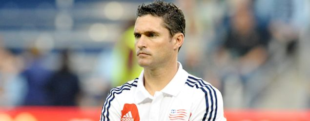 New England coach Jay Heaps.  Credit: Bill Barrett - ISIPhotos.com