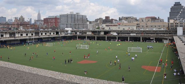 New York City's Pier 40 on the west side.  Credit: Cesar Diaz - US Soccer Players