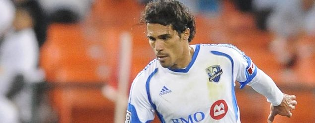 Montreal Impact forward Bernardo Corradi, in action earlier this season against DC United.  Credit: Jose L. Argueta - ISIPhotos.com