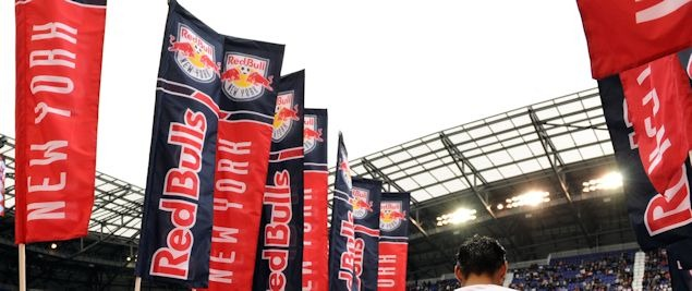 Red Bull Arena is the site for one of two weekday afternoon games in Major League Soccer on July 18th, 2012.  Pictured is Red Bull Arena earlier this season.  Credit: Howard C. Smith - ISIPhotos.com